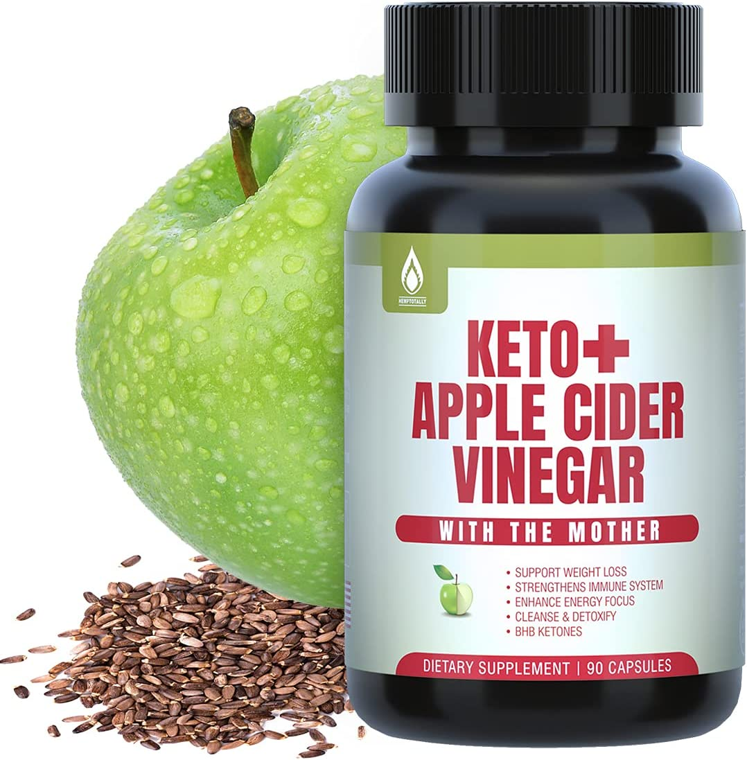 Apple Cider Vinegar Capsules with The Mother + Keto Pills with Milk Thistle Seed Extract for Cleanse, Detox, Immune Support, Keto BHB Capsules for Women Men, 90 Capsules Keto Diet Pills Supplements