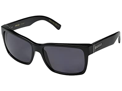df91bf1243 VonZipper Elmore Men s Polarized Casual Sunglasses Eyewear - Color  Black  Gloss Grey Poly