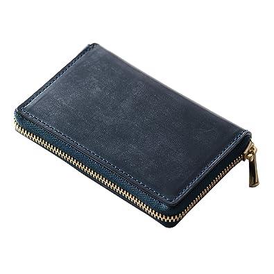 3719320e8fe8 DanZy(ダンズィ) ブリティッシュブライドルレザー 小銭入れ メンズ 財布 ネイビー 紺色