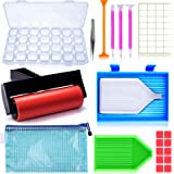 Suptikes 22 Pieces 5D Diamonds Painting Tools and Accessories Kits with Diamond Painting Roller and Diamond Embroidery Box fo