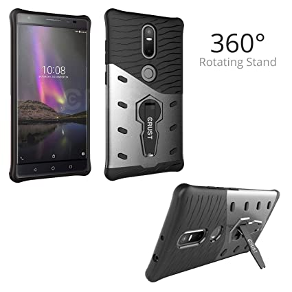newest collection d156c b40bd CRUST™ [360° Rotating Stand] Lenovo Phab 2 Plus Back Case Cover, Impact 360  Series [Slim Armor] For Lenovo Phab 2 Plus, Phab2 Plus Shock Proof, ...