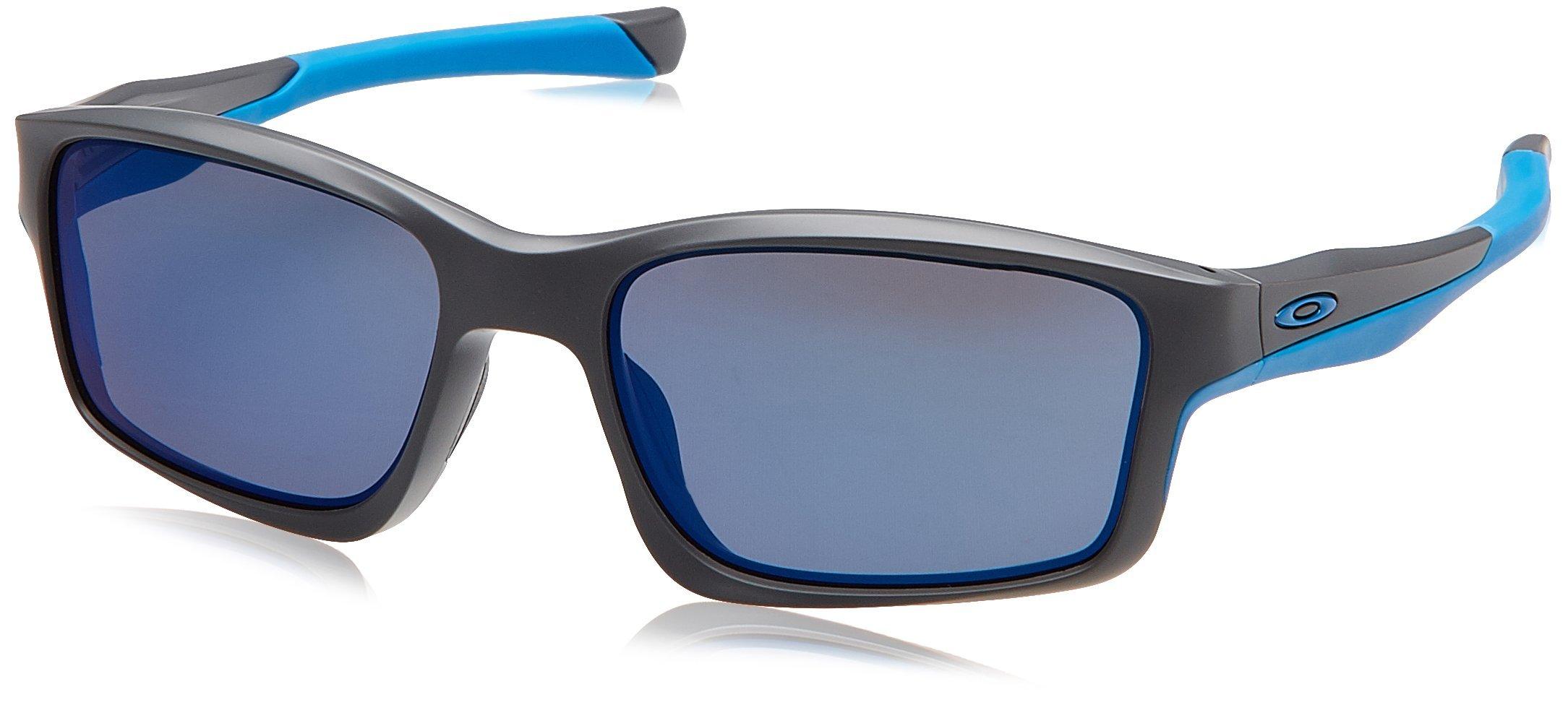 Oakley Mens Chailink OO9247-05 Non-Polarized Ractangular Eyeglasses, Matte Grey, 57 mm