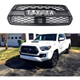 MC Auto Parts Trd Pro Grille for 3rd Gen Tacoma, Fit: 2016-2021 All Models, Multiple Lettering Color (Black/Grey/White…
