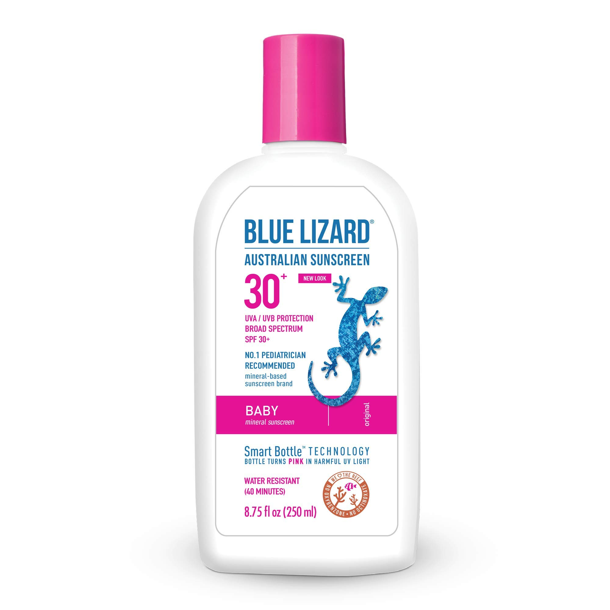 Blue Lizard Baby Mineral Sunscreen - No Chemical Actives - SPF 30+ UVA/UVB Protection, 8.75 oz by BLUE LIZARD