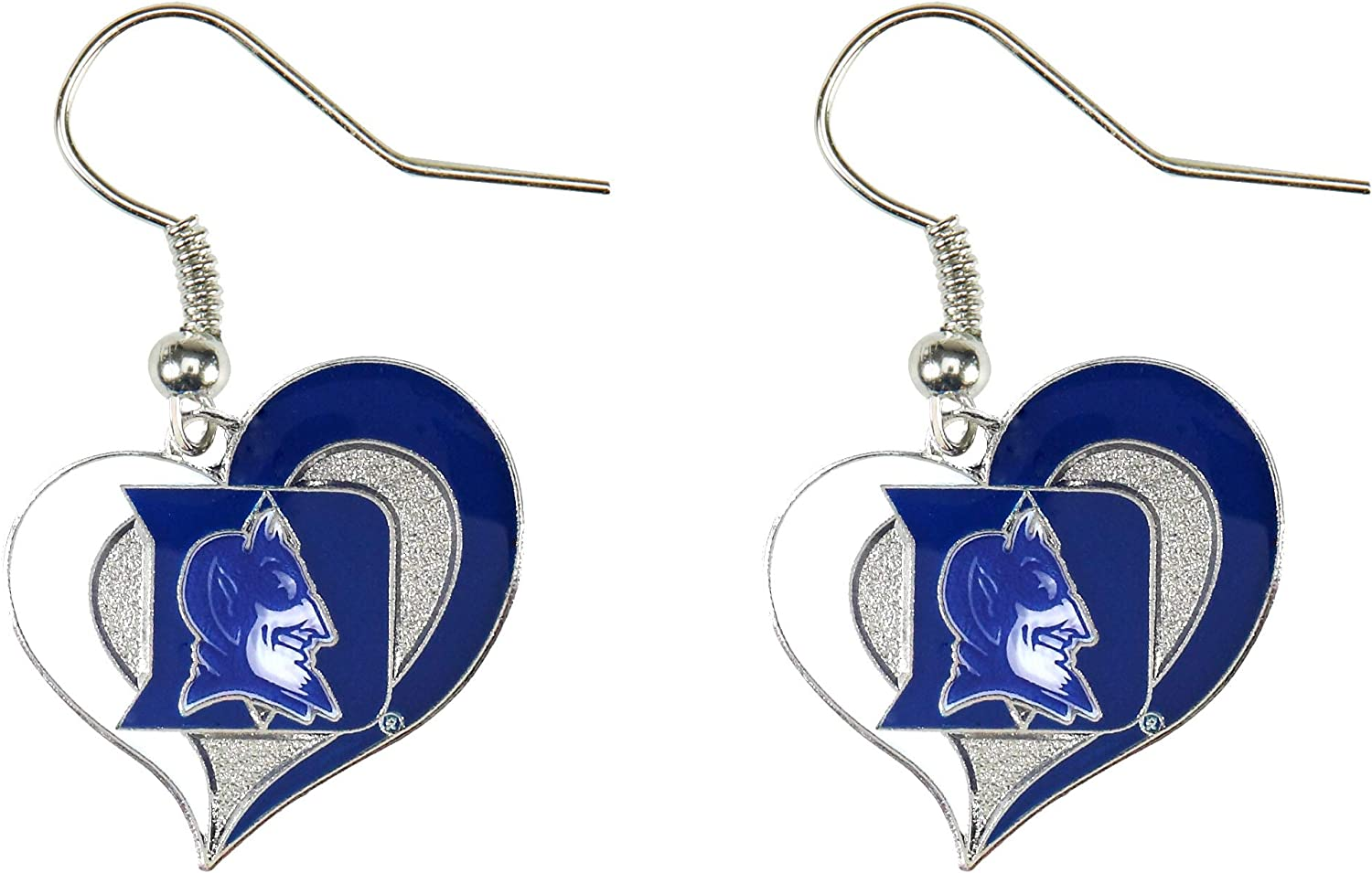 aminco NCAA womens NCAA Swirl Heart Earrings