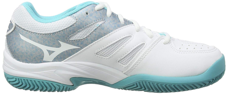 Blanco 39 EU Mizuno Break Shot 2 CC White//Silver//Blue Curacao 03 Zapatillas de Tenis para Mujer