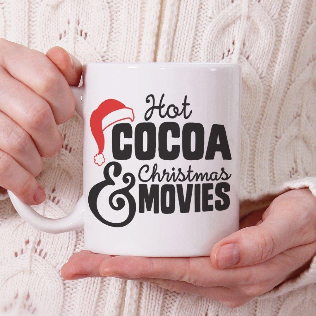 Christmas Coffee Mugs, Fun Mugs, Funny Christmas Mug, Hot Cocoa and Christmas Movies