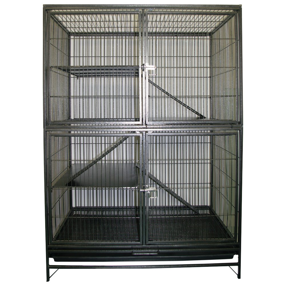 Living World Ferret Cage Knockdown Style Hammertone Grey 93 L x 60 W x 131 H cm