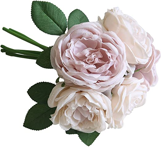 5 Heads Artificial Silk Rose Flower Fake Bouquet Wedding Home Party Decoration
