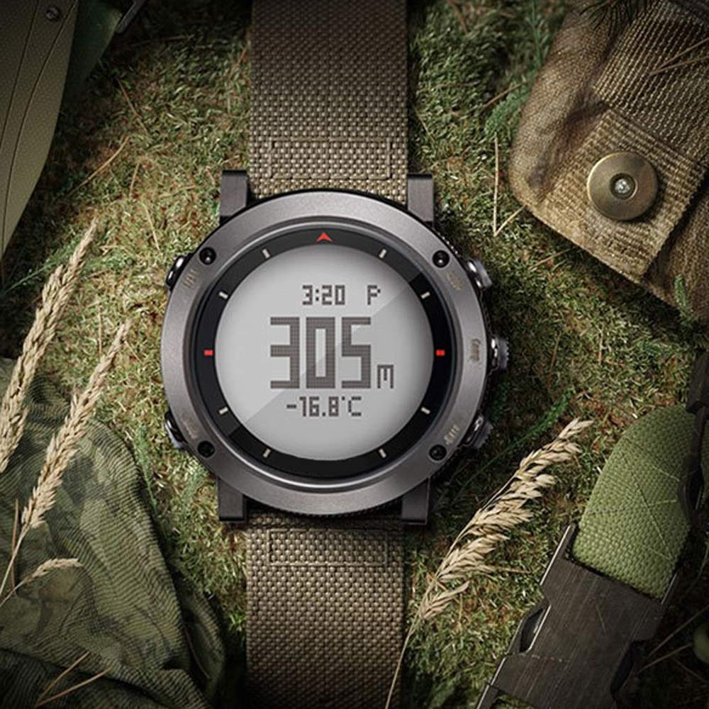 Jian E- Multifunktionell utomhussport klocka löpning bergsklättring högt höjdtryck kompass stegräknare klocka man, smart sportklocka @ (färg: A) Jag
