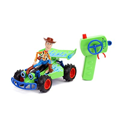 Jada Disney Pixar Toy Story 4 Turbo Buggy W/Woody Radio Control Vehicle, 2.4 Ghz, 1: 24: Toys & Games