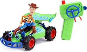 Jada Disney Pixar Toy Story 4 Turbo Buggy W/ Woody Radio Control Vehicle, 2.4 Ghz, 1: 24
