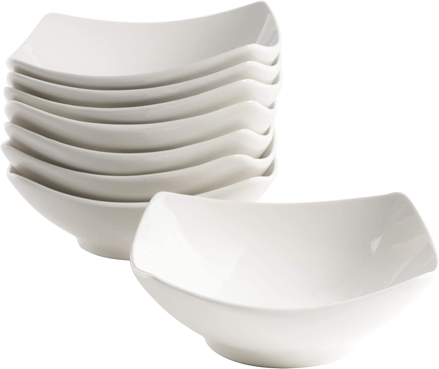Gibson Home Zen Buffet Dinnerware Set, 8-Piece Bowl, White