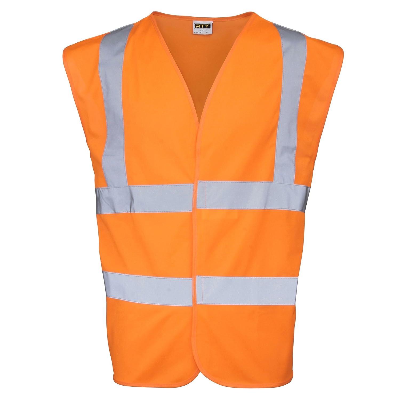 RTY High Visibility Unisex High Vis Sleeveless Waistcoat/Vest