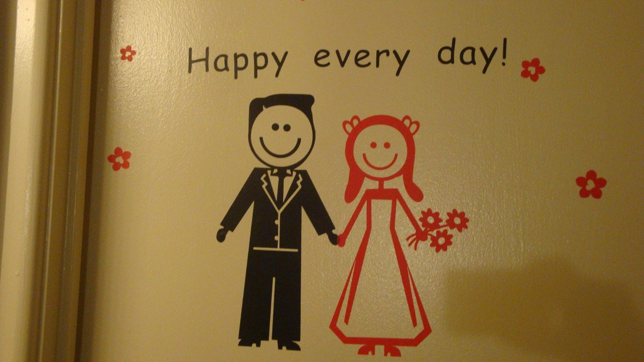Custom PopDecals - Wedding Couple, Happy Every Day - Beautiful Tree Wall Decals for Kids Rooms Teen Girls Boys Wallpaper Murals Sticker Wall Stickers Nursery Decor Nursery Decals by PopDecals