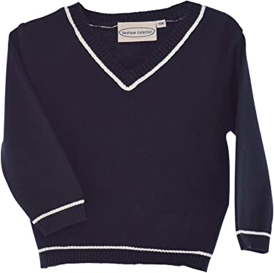 Carriage Boutique Blue Pull Over Boys Sweater