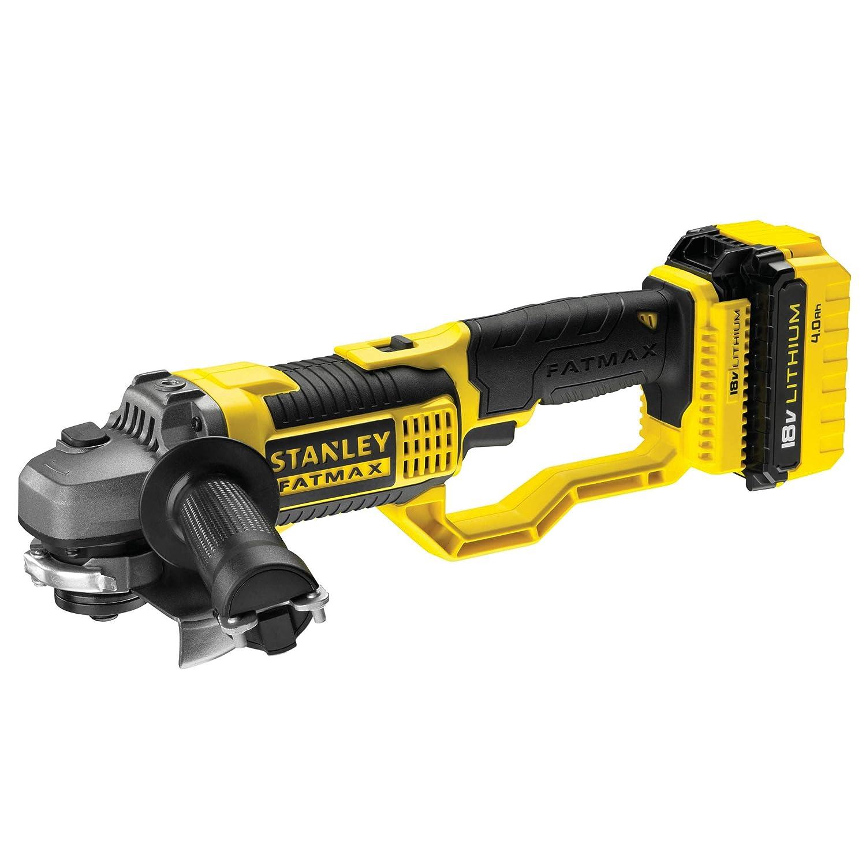 STANLEY FATMAX FMCK469M2-QW Kit taladro percutor atornillador de impacto amoladora y sierra circular 18V con 2 bater/ías litio 4Ah y bolsa de transporte