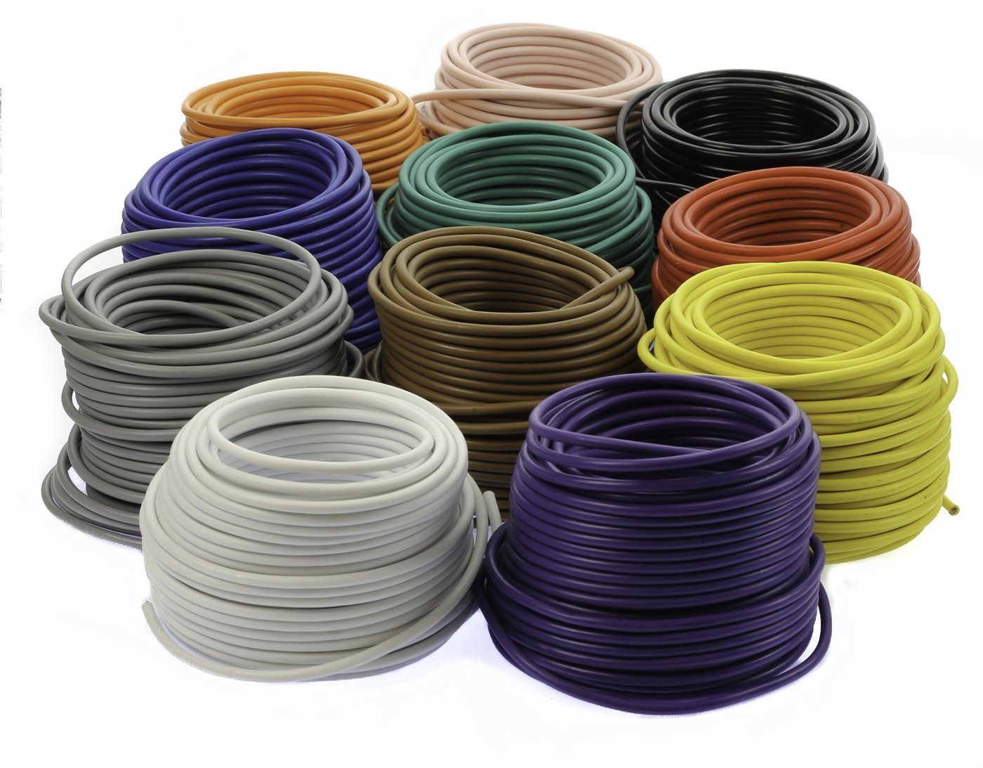VOODOO 11 Colors Rolls 50' Feet 16 AWG Gauge Primary Remote Wire Power Cable Stranded
