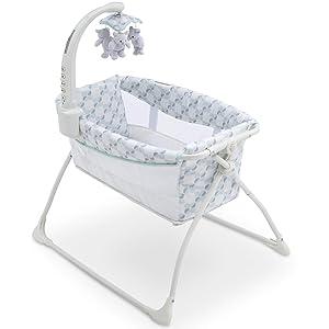Delta Children Deluxe Activity Sleeper Bassinet for Newborns, Windmill