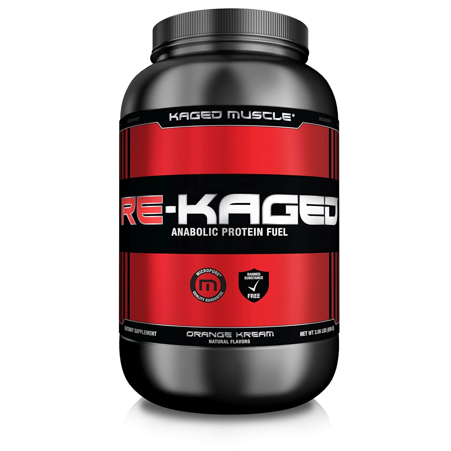 RE-KAGED Post Workout Whey Protein Powder – Orange Kream – 20 Servings – BCAAs + Creatine + Glutamine + Betaine – Build Muscle Faster + Recover Stronger*