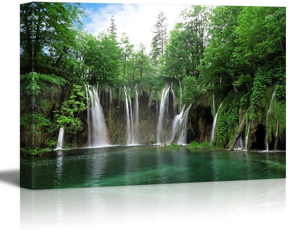 Waterfall in National Park Croatia - Canvas Art Wall Art - 12