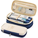 EASTHILL Big Capacity Pencil Pen Case Pouch Box Organizer Large Storage for Bullet Journal Blue