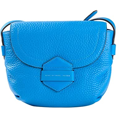 b2a4e8a469ad Image Unavailable. Image not available for. Color  Marc By Marc Jacobs Blue Leather  Half Pipe Annable Crossbody Bag M0003374
