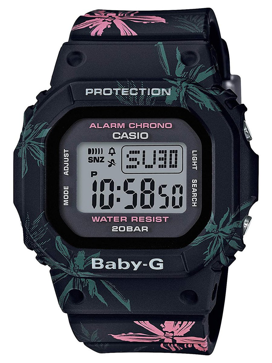 Casio International Edition Baby-G Summer Flower Pattern Black BGD560CF-1