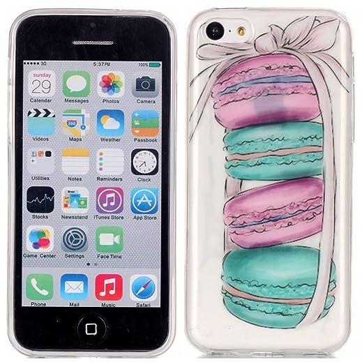 20 opinioni per Voguecase® Per Apple iPhone 5C, Custodia Silicone Morbido Flessibile TPU