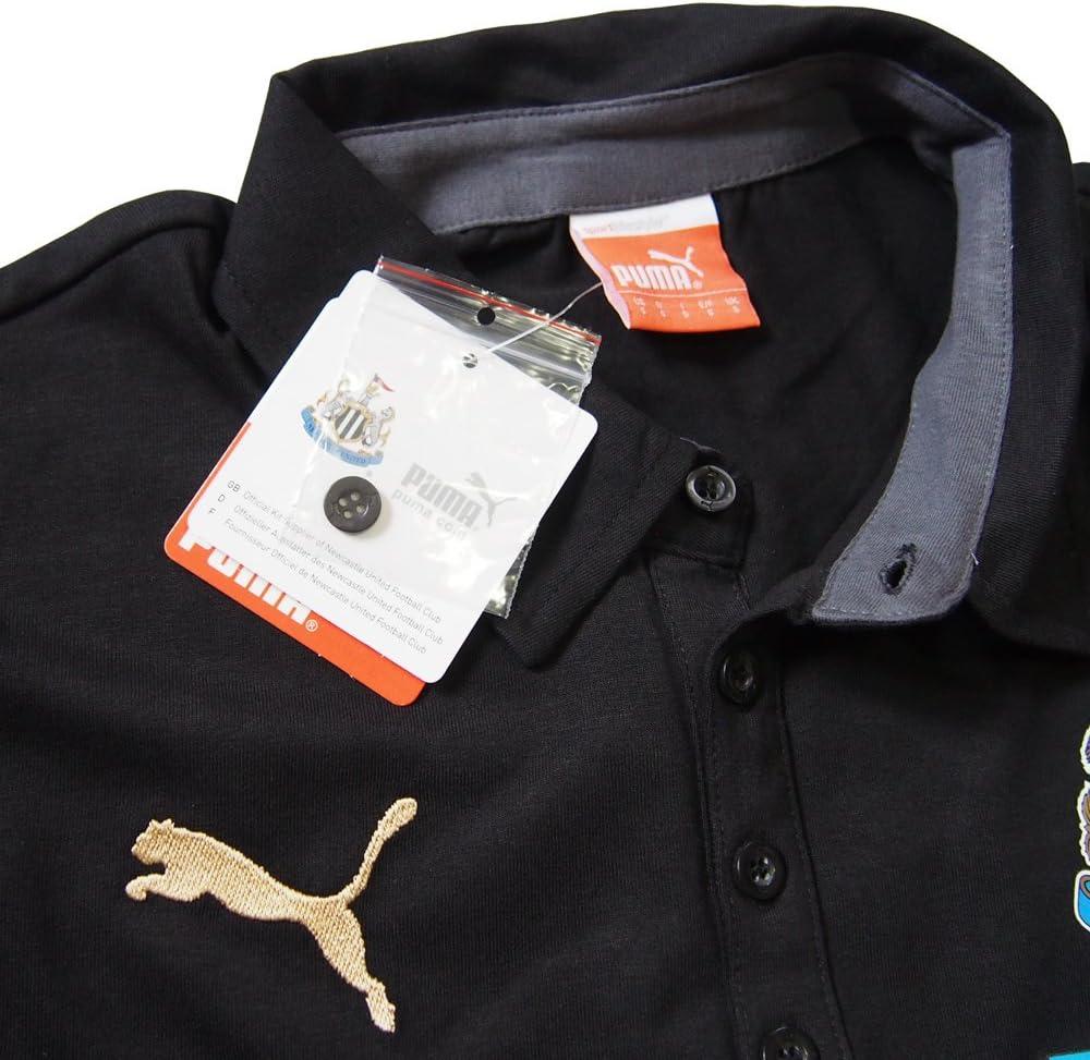 2014-15 Newcastle Puma Leisure Polo Shirt (Black): Amazon.es ...