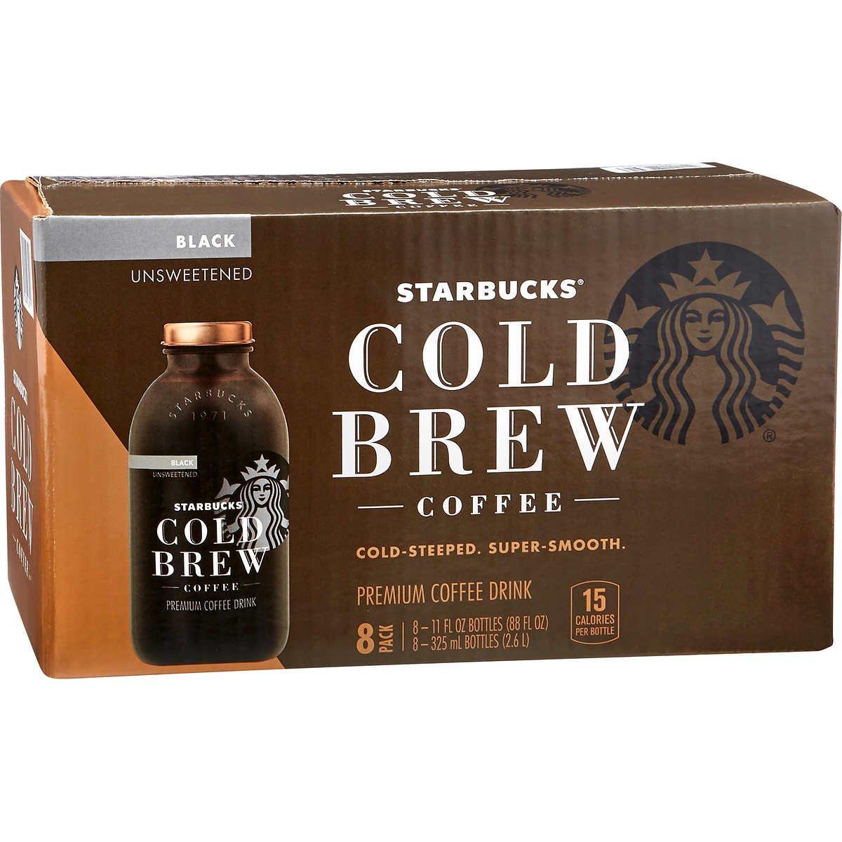 Starbucks Cold Brew Premium Black Coffee Drink, Unsweetened, 11 oz (8-Pack) by Starbucks