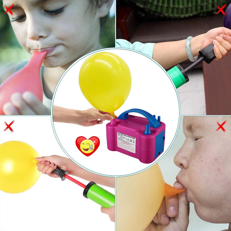 Activit/és et D/écoration de Destival YINKUU Gonfleur Electrique Pompe Ballon pour F/ête Anniversaire Mariage