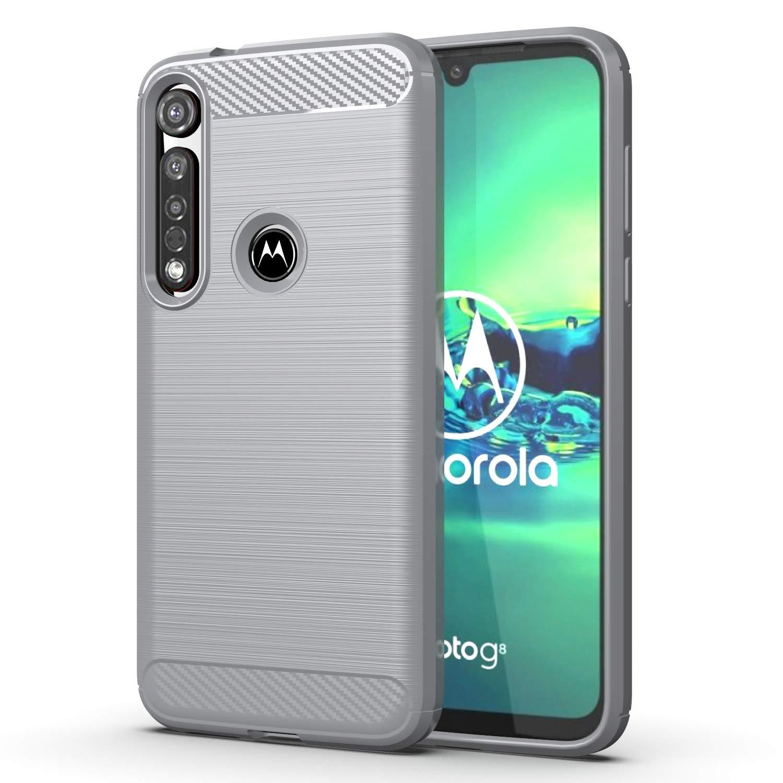 Funda Resistente Para Motorola G8 Plus, Plateada