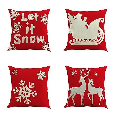 Cojines De Casa.Unimall Fundas Para Cojines Sofa Decorativas Para Casa O Regalo Para Navidad Cuatro Piezas Protector Para Cojines Silla Comedor