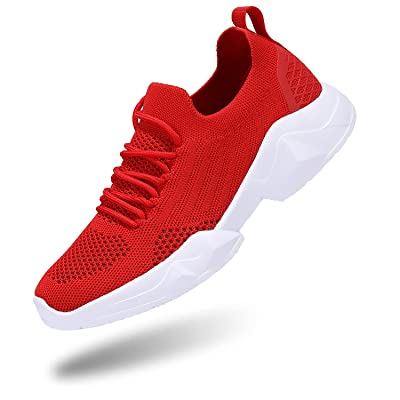 Womens Sneakers Fashion Tennis Shoes Breathable Walking Running Athletic 2 Pairs