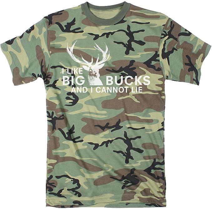 Mens I Like Big Bucks and I Cannot Lie Funny Deer Hunting T shirts for Men