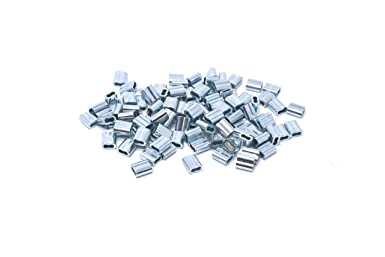 Pack of 10 Swage Right MIL-SPEC Stainless Steel Swage Sleeves Clip /& Ferrules Oval Duplex Wire Rope Cable Crimping Loop Fittings 3//16 inch