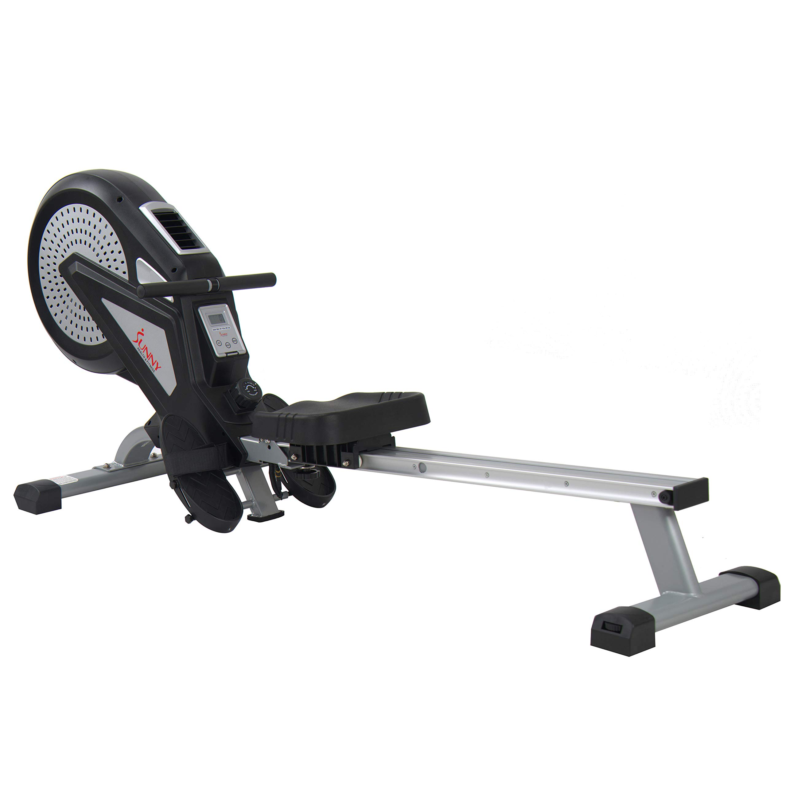 Sunny Health & Fitness Air Rower Rowing Machine w/ LCD Monitor, Dual Belt and Air Resistance SF-RW5623 by Sunny Health & Fitness (Image #2)