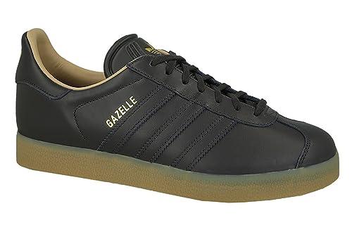 adidas Gazelle Leather Premium Zapatillas de Deporte Hombre Negro, 36: Amazon.es: Zapatos y complementos