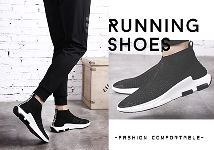 Amazon.com | Kamma Mens Womens Knit Running Shoes Couples Breathable Tennis Walking Sneakers | Walking
