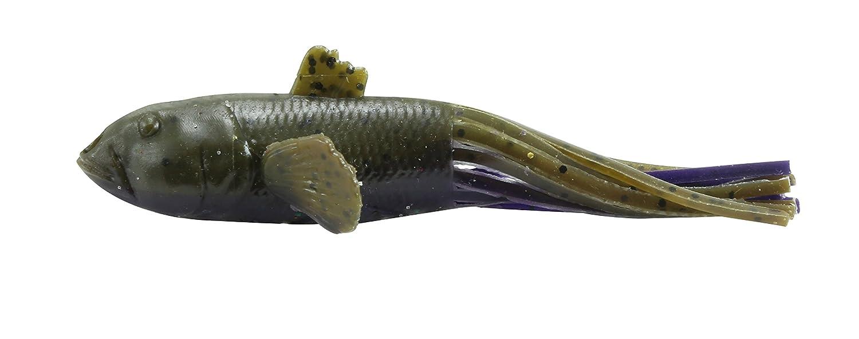 【送料無料】 Savage Gear Green/Purple 3D Belly ハゼ Belly 中空チューブ ルアー B072RCZV89 3 1/2