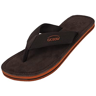 69709a62fb Oxbow Men's Thong Sandals Brown Brown: Amazon.co.uk: Shoes & Bags