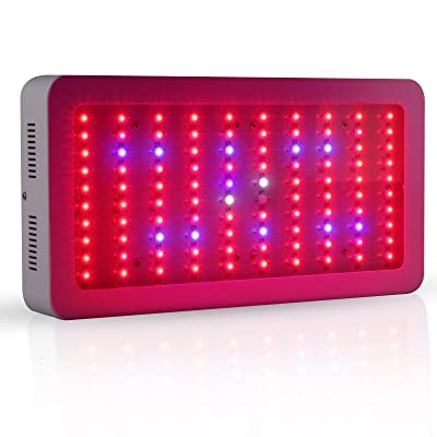 Galaxyhydro 300w LED Grow Light Full Spectrum with Daisy Chain,Indoor Plants Growing and Flowering Grow Lights