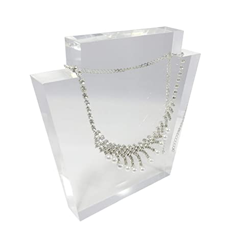a7a0e93d3134 Image Unavailable. Image not available for. Color  FixtureDisplays Clear  Acrylic Plexiglass Necklace Jewelry Stand Display ...