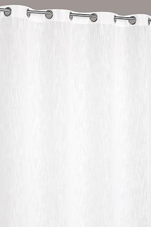 Rideau Grande Hauteur 140 x 280 cm Aspect Lin Lourd Blanc: Amazon.fr ...