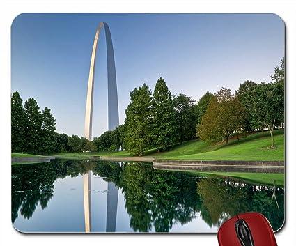 Amazon.com : Gateway Arch St. Louis, Missouri wallpaper mouse pad computer mousepad : Office Products