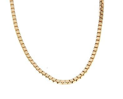 13ab91596ff3 Orocatena - Cadena de Oro Amarillo 18 kilates para Hombre 50cm - Collar  Veneciana de Oro de 18 quilates genuino  Amazon.es  Joyería