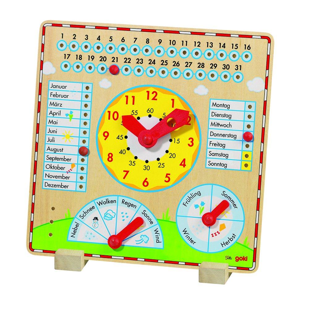 Goki Year Clock Learning Baby Toy