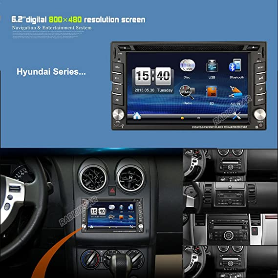 amazon com car dvd gps sat navigation head unit auto radio for rh amazon com 2009 Hyundai Sonata Custom 2009 Hyundai Sonata Custom