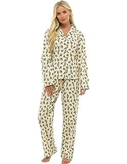 7924c247ac by Karen Neuburger Ladies Stunning Printed Fleece Pyjama Set Womens ...